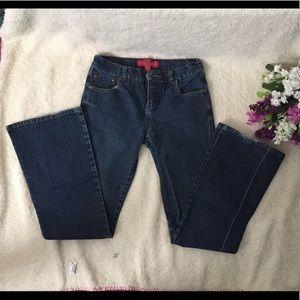 Glo Juniors Dark Blue Medium Rise Boot Cut Jeans